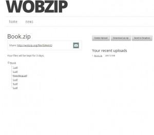Extract کردن آنلاین یک فایل زیپ-wobzip