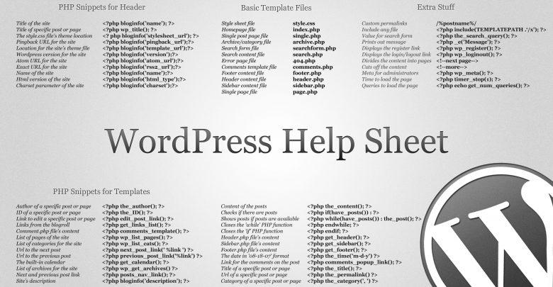 Cheat sheet برای توسعه دهندگان وب